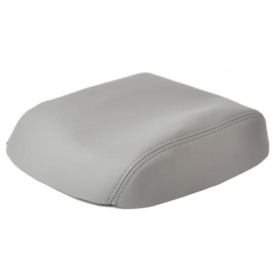 Armrest cover For Honda Pilot center console cover Lid 2009 2010 2011 2012 2013 Grey Synthetic Leather Protector